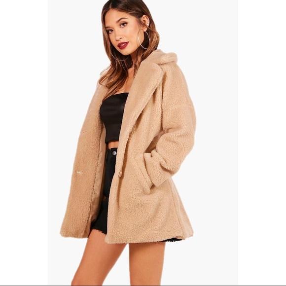 01ddd16f0fc17 Boohoo Jackets & Coats   Teddy Fur Coat   Poshmark